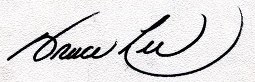 Jeet Kune Do. Podpis.